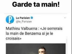"""Karim Benzema rechaza hacer las paces con Valbuena: """"Guárdate la mano"""""""