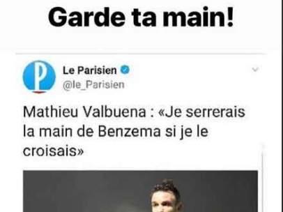 Publicación de Benzema en Instagram