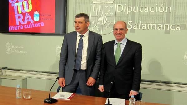 Iglesia (D) Y Barrera (I) En La Diputación De Salamanca 20-3-2018