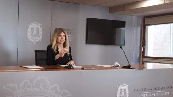 Eva Montesinos, este martes en rueda de prensa