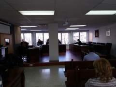 Un momento del juicio en Palencia por violación 20-3-2018