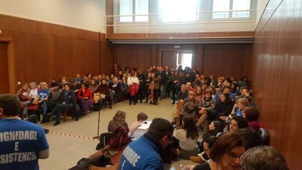 Imagen de la asamblea de trabajadores de Pontevedra