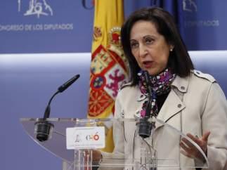 Margarita Robles, portavoz del PSOE en el Congreso de los Diputados, este martes.