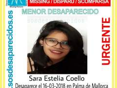 Sara Estelia, desaparecida en Palma