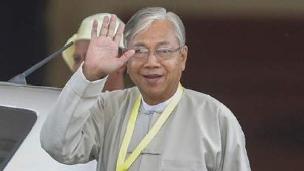 El hasta ahora presidente de Birmania, U Htin Kyaw