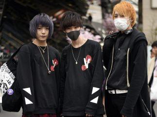 Tres góticos de estilo Harajuku