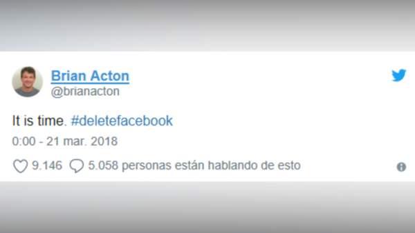 Cofundador de Whatsapp anima a borrar perfiles de Facebook