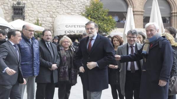 Mariano Rajoy, hoy en la ciudad de Teruel