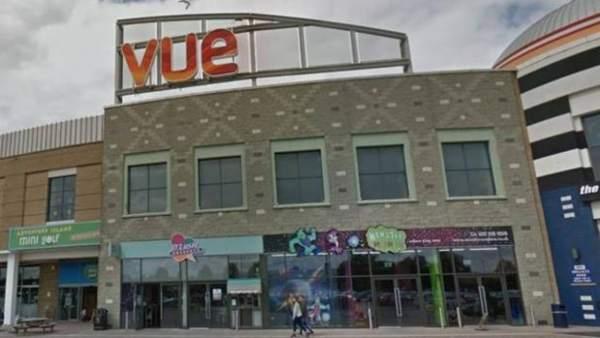 Cine Vue de Birmingham, Reino Unido, donde murió un hombre.