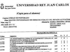 """Cifuentes muestra sus notas y defiende la """"legalidad"""" del título de su máster"""