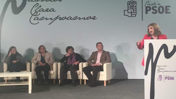 Secretaria general del PSOE de Cádiz, Irene García, en Premios Clara Campoamor