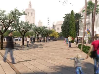 Reurbanización de la plaza de la Reina