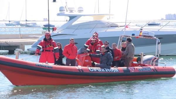 Imagen de la LS-Selene, la nueva embarcación semirrígida de Cruz Roja
