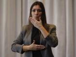 Intérprete de la lengua de signos, en una imagen de archivo