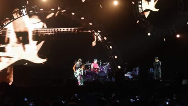 El cantante Anthony Kiedis, de los Hot Chilli Peppers, durante el festival Lollapalooza Paris en 2017.