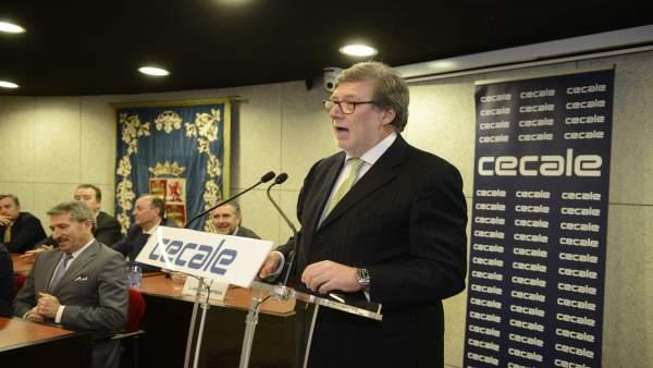 Valladolid.- Aparicio, durante su intervención (22/3/2018)