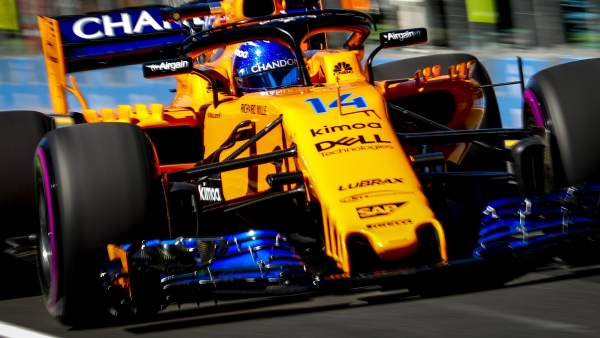 Alonso, en los libres del GP de Australia 2018
