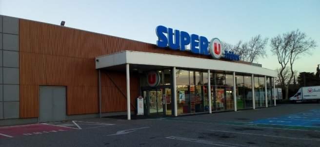El supermercado Super U de trebes, en Francia