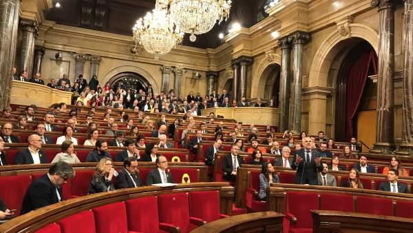 Pleno del Parlament de investidura de Jordi Turull (JxCat) en primera vuelta