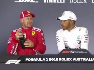 Pique entre Vettel y Hamilton