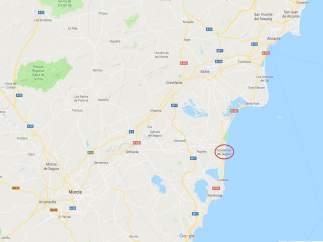 Localización de Guardamar del Segura