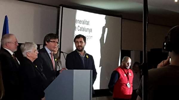 Lluís Puig, Clara Ponsatí, Carles Puigdemont, Toni Comín (Archivo)