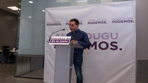 Rueda de prensa de Andeka Larrea, Podemos Euskadi