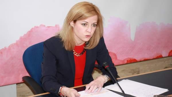 Ana Isabel Abengózar en rueda de prensa