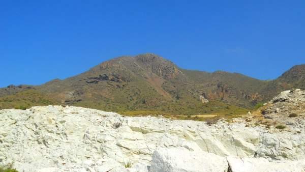 Loma pelada, en Cabo de Gata