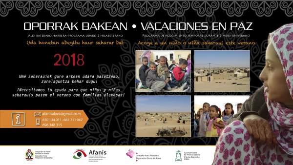 Programa 'Vacaciones en Paz' que gestionan Afanis y el Frente Polisario