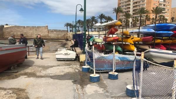 Salida de barcos deportivos bloqueado en Cádiz