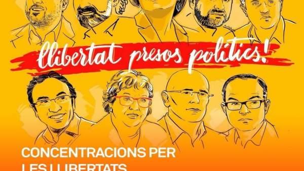 Concentraciones por la libertad de los presos políticos del BLOC