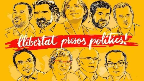 """Bloc i part de Compromís a València demanen """"llibertat dels presos polítics"""""""