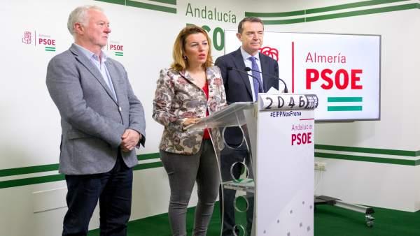 Jiménez, Ferrer y Pérez Navas, en rueda de prensa