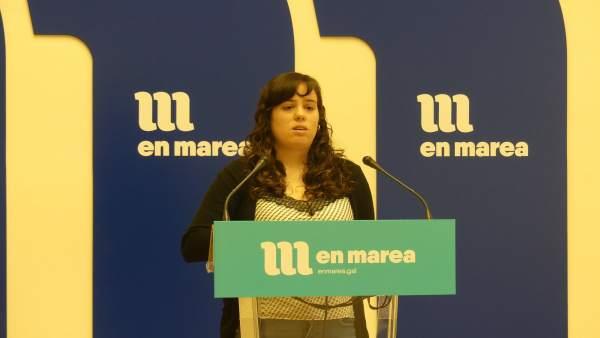 La diputada Paula Quinteiro de En Marea