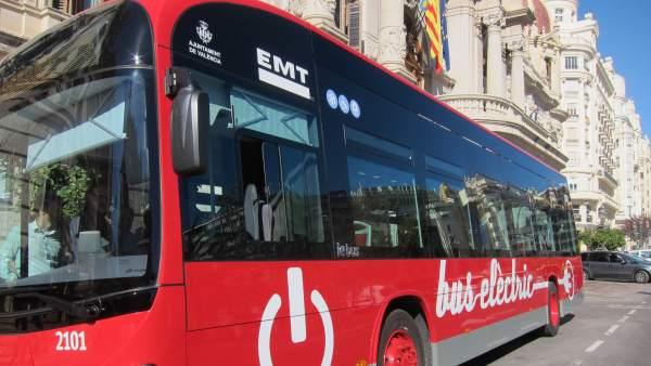 Nuevo autobús eléctrico de la EMT de València