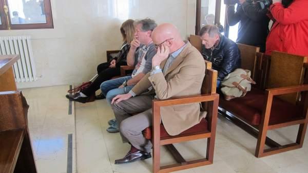 Cuatro de los acusados por el caso Minser: Canyellas, Salom, Ribas y Escuer