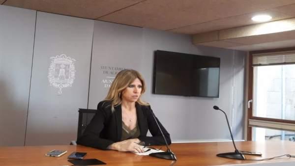 Eva Montesinos en su comparecencia de este martes