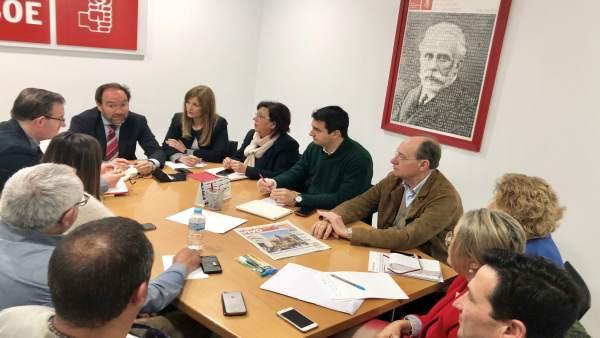 Reunión del Grupo Parlamentario del PSOE de Huelva.
