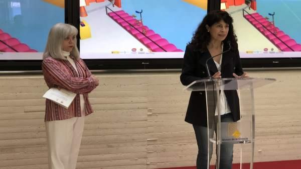 Ana Redondo (dcha) e Inés Rodríguez (izda) presentan la programación, 27-3-18