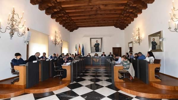 Nota Pleno Diputación De Cáceres