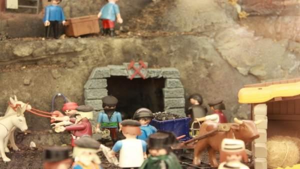 Una imagen de la exposición sobre minería en el MEH