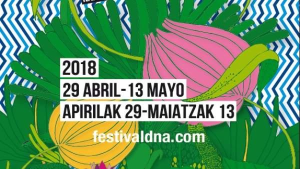 Cartel del Festival de Danza Contemporánea de Navarra 2018