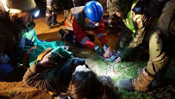 Simulacro de emergencias en atentado terrorista en Sevilla