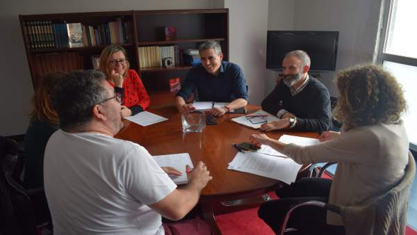 Reunión de Zuloaga con delegados sindicales del IEO