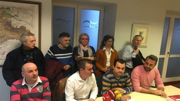 Valladolid.- Representante sindicales de la hostelería en el Seral (27/3/2018)