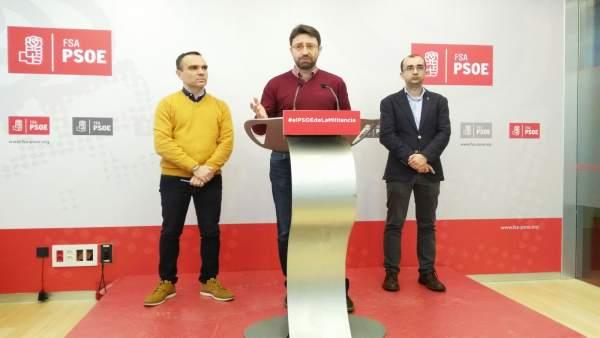 Iván Fernández, Enrqiue Fernández y José Víctor Rodríguez, FSA.