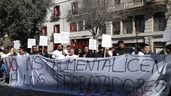 Manifestación trabajadores de Megapark