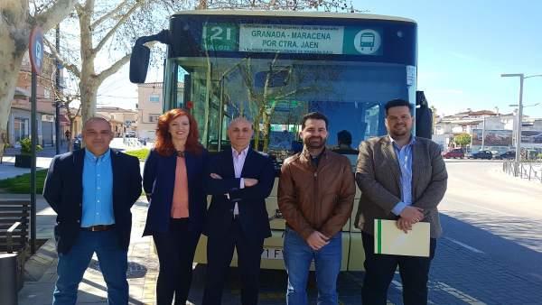 Amplían el horario del servicio de autobuses de Maracena