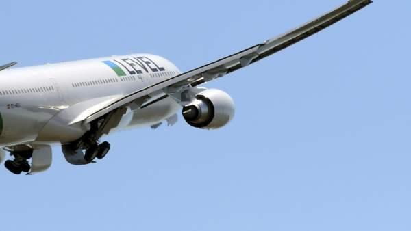 Avión de la aerolínea Level.